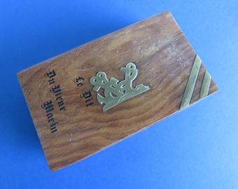 "Breton Wooden Box - The ""Say of the Old Sailor"" - 70's"