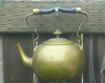 Brass Cutie - teapot Upcycled into a Windchime