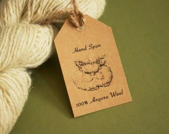 English Angora Tags for Hand Spun Yarn - Printable PDF