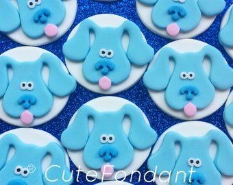 12 Blue's Clues fondant cupcake toppers - Blues Clues Birthday - Blues Clues party - Blues Clues cupcakes - Fondant toppers