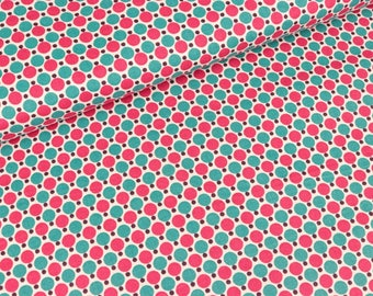 Cotton fabric Lespois dots and dots on white (8.90 EUR/meter)