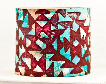 Turquoise Boho Bracelets Bohemian Teal Accessories Wrist Cuffs