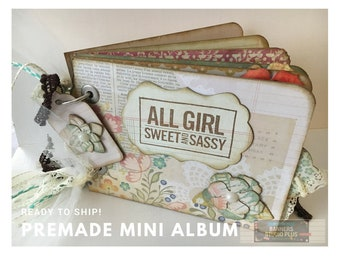 ALL GIRL Sweet and Sassy - Premade Mini Album - Ready to Ship - We Ship FAST