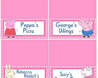 Peppa Food Signs *DIGITAL FILE VERSION*