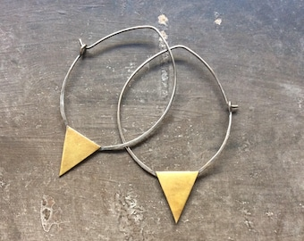 Triangle Hoops//Mixed Metal
