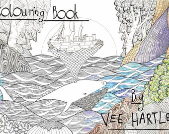Colouring Book for Adults, Adult Colouring book, animal prints, patterns to colour, wildlife prints for colouring, vee hartley