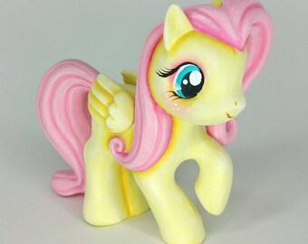 Custom Painted Fluttershy Piggy Bank My Little Pony MLP