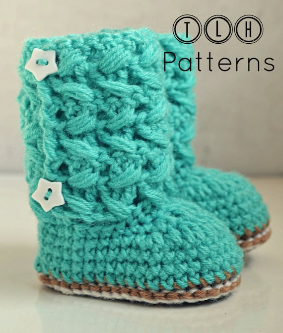Crochet baby boots pattern, baby booties, crochet pattern baby boots ...