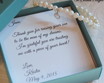 Mother of the Groom bracelet, Mother of Bride bracelet, Mother in law gift, Wedding gift, Future mother in law