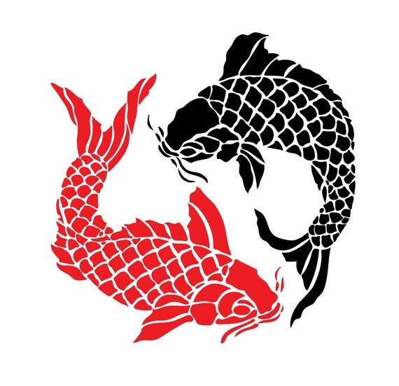 Koi fish circle file download svg png dxf eps jpeg for Japanese flag koi