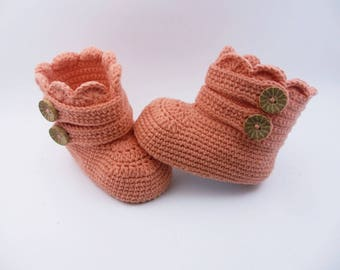 Crochet baby booties Baby shoes Baby boots Baby boy, Baby boy booties, Baby photo prop, Newborn shoes, Handmade shoes, Newborn baby gift,