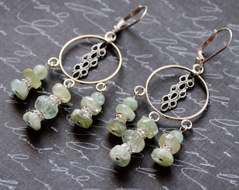 Aquamarine Earrings, March Birthstone, Gemstone Earrings, Aquamarine Jewelry, Handmade, Green Earrings, SRAJD March Birthday gift for her