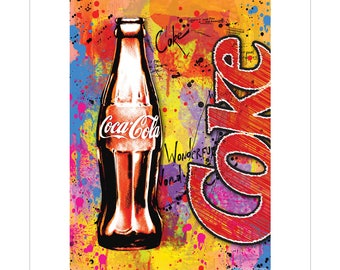 Coca-Cola Wonderful World Vinyl Sticker Graffiti Style - 158825