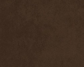 Fabric by the Yard - Robert Kaufman - Nu Suede - Chocolate #1073 - Microfiber - 100% Polyester