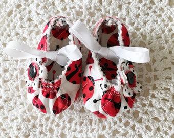 Ladybug Baby Mary Jane's in Two Sizes
