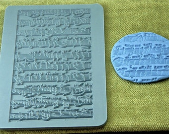 Rollable SHEET MUSIC  Rubber Texture Tile Stamp RTT133