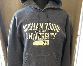 Vintage Brigham Young University Hooded Sweatshirt, Size: Large