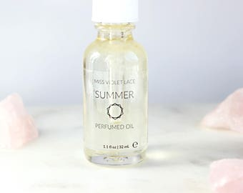 Summer Perfume Oil   Beach, Flowers and Sunshine   100% natural and vegan body oil