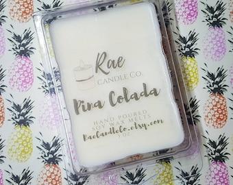 Pina Colada 6 pc. Heavily Scented Wax Melt 3 oz/ Summer Fragrance Wax Melts/ Tropical Wax Tarts