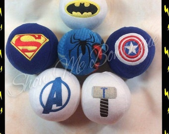 5x7 Super Hero In The Hoop Stuffed Balls