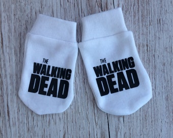 The walking Dead Inspired Baby Scratch Mitts