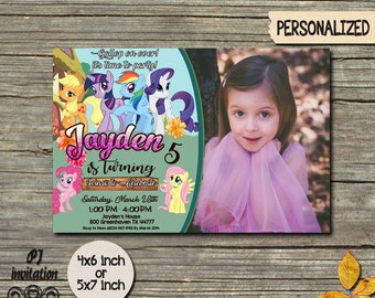 My Little Pony Invitation,My Little Pony Invite,My Little Pony Party,Little Pony Birthday,Pony Invitation,Pony Birthday,Pony Invite FF