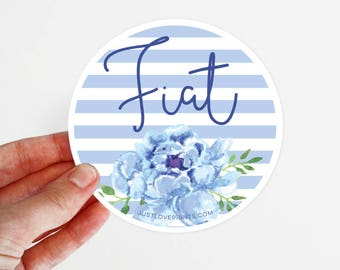 Mary's Fiat   Car Magnet   3.5 x 3.5 in