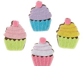 Felt Cupcake Stickers