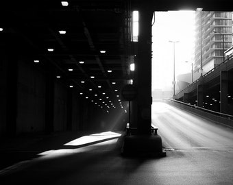 Chicago Black and White Print, Chicago Wall Art, Chicago Canvas Art, Chicago Architecture Print, Fine Art Photography and Canvas Wrap