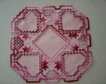 Hearts in Varigated Rose