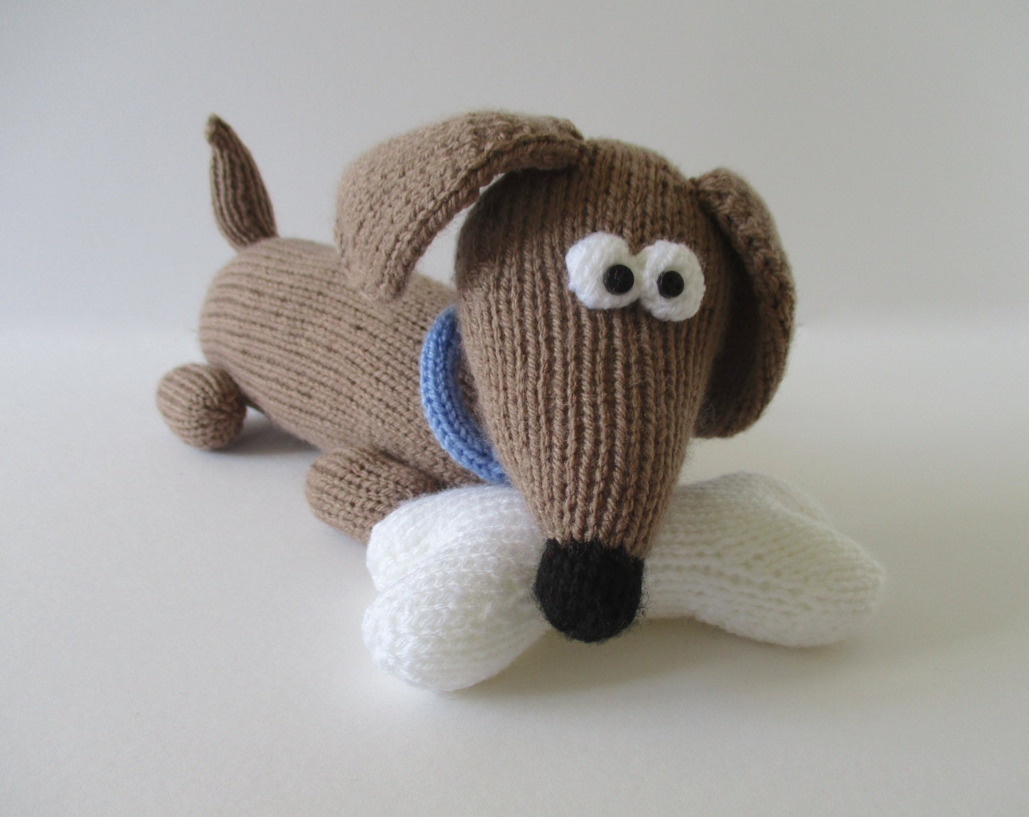 Bangers the Sausage Dog toy knitting patterns from fluffandfuzz on ...