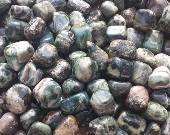 OCEAN JASPER TUMBLED Stone One (1) Medium/Large Natural Tumble Stone