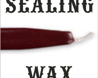 Burgundy traditional wax sticks with wicks - Scottish style breakable sealing wax - 10 pieces - 1/2 PRICE SALE