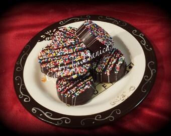 Rainbow Chocolate Covered Oreos (1 Dozen)