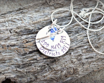 Swim Team Necklace - Swimming Necklace - Personalized Swimming Necklace - Medley Relay Swimming Necklace - Districts Necklace -