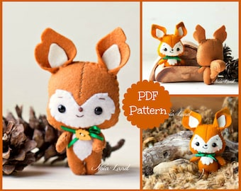 Baby Squirrel and Fox (PDF Pattern)