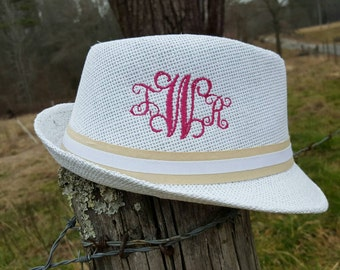 1/2 off ****SALE****Monogrammed Fedora Hat