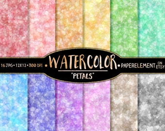 Water Color Digital Paper: Water Color Scrapbook Paper Pack, Pastel Watercolor Graphics, 12x12 Watercolor Print, Watercolor Digital Download