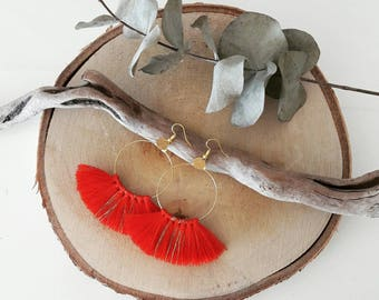 Tassel hoop earrings (more colors)