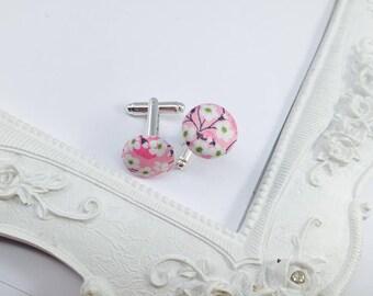 Fabric Liberty Mitsi Valeria Rose - man cufflinks