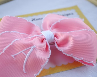 Baby Bow for Newborn Girl Coming Home Outfit Personalized Baby Gifts for Girl Infant Headbands Baby Bow Headband Pink Bow Baby Girl Gift