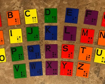 Braille Alphabet Set for Learning Braille - Low Vision