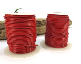 Red Leather Cord, 5 Yards Leather Cord, 1mm Leather Cord, Leather Necklace Cord, Jewelry Supplies, Item 644ct