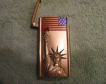 Commemorative Lighter Statue of Liberty Flag