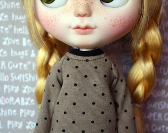 Green Dots sweater for Blythe, Dal, Licca...