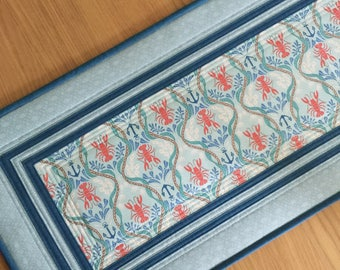Nautical Quilted Table Runner, Blue Fabric Table Runner, Modern Table Topper, Table Centrepiece, Seaside Quilted Wall Hanging