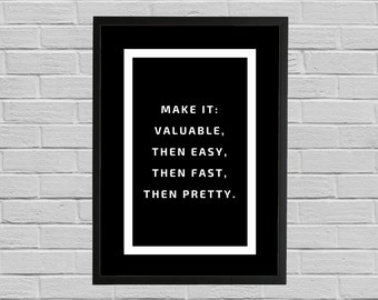 Business Motivational Quote, Printable poster, Wall art, Instant download, Printable quote, Modern poster, Cool gift, Startup wall art