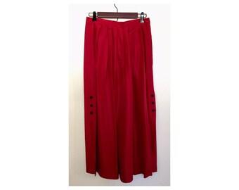 Red Flowy Spanish Skirt
