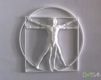 Wall Mounted 3D Printed Vitruvian Man