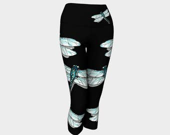 Dragonfly Yoga Workout Leggings Dragonfly Tattoo Yoga Pants Yoga Leggings Gift For Her Yoga Wear